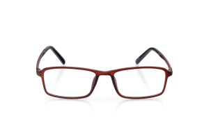 Men Full Frame Plastic  Aura: 16-02 Matte/Transparent Brown 2005622