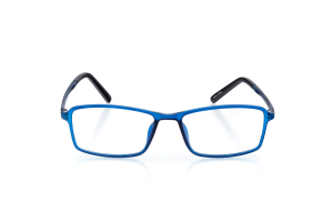 Men Full Frame Plastic  Aura: 16-02 Matte/Transparent Navy Blue 2005621
