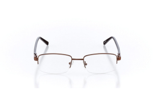 Men Semi Rimless Metal  Aura: 16-07 Brown 2005635