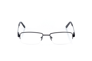 Men Semi Rimless Metal  Aura: 16-08 Black 2005639