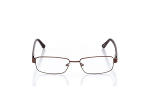 Men Full Frame Metal  Aura: 16-12 Brown 2005649