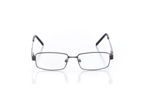 Men Full Frame Metal  Aura: 16-16 Gunmetal Gray & Navy 2005658