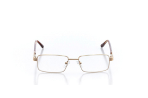 Men Full Frame Metal  Aura: 16-18 Brushed Gold & Tortoiseshell 2005665