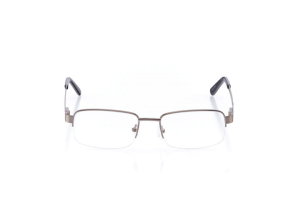 Men Semi Rimless Metal  Aura: 16-21 Silver 2005830