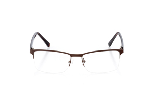 Men Semi Rimless Metal  Aura: 16-76 Gunmetal & Black 2007434
