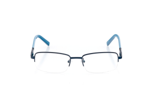 Men Semi Rimless Metal  Aura: 16-80 Matte Pearl Navy & Powdered Denim 2007447