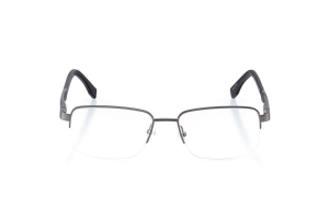 Men Semi Rimless Metal  Aura: 16-81 Matte Gunmetal & Matte Plastic Black 2007449