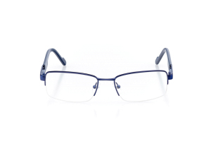 Men Semi Rimless Metal  Aura: 16-82 Satin Blue & Navy 2007452