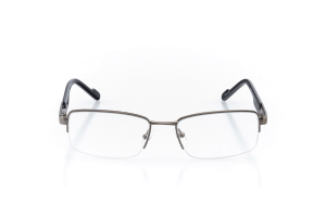 Men Semi Rimless Metal  Aura: 16-82 Gunmetal & Black 2007453