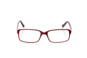Women Full Frame Plastic  Aura: 16-01 Red & Clear 2005554