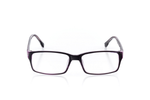 Women Full Frame Plastic  Aura: 16-02 Black & Clear Purple 2005557
