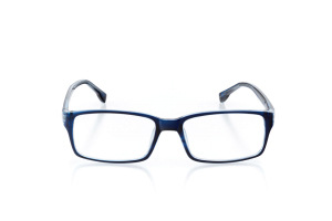 Women Full Frame Plastic  Aura: 16-02 Navy & Clear Navy 2005558