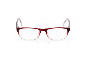 Women Full Frame Plastic  Aura: 16-08 Faded Red & Clear 2005574