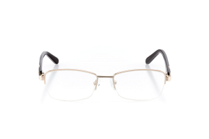 Women Semi Rimless Metal  Aura: 16-09 Gold & Brown 2005577