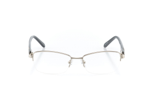 Women Semi Rimless Metal  Aura: 16-09 Silver & Gray 2005578