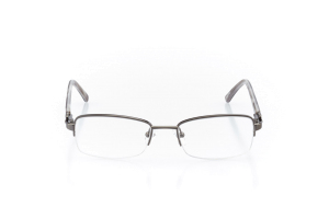 Women Semi Rimless Metal  Aura: 16-101 Gunmetal & Gray 2007488