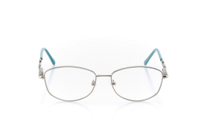Women Full Frame Metal  Aura: 16-102 Silver & Light Teal 2007491