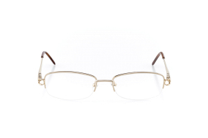 Women Semi Rimless Metal  Aura: 16-104 Gold & Clear Brown 2007495