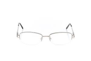 Women Semi Rimless Metal  Aura: 16-104 Silver & Clear Gray 2007497