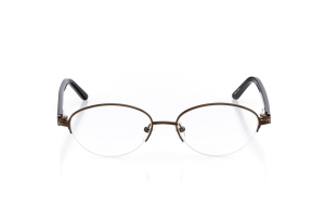 Women Semi Rimless Metal  Aura: 16-11 Brown 2005583