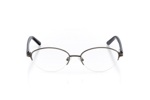 Women Semi Rimless Metal  Aura: 16-11 Gunmetal & Black 2005584