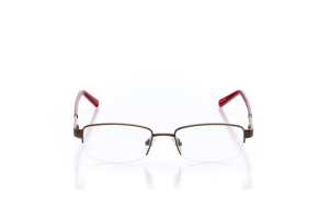 Women Semi Rimless Metal  Aura: 16-16 Brown & Red 2005595