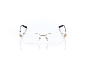 Women Semi Rimless Metal  Aura: 16-16 Gold & Brown 2005596