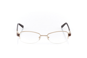 Women Semi Rimless Metal  Aura: 16-17 Brown & Gold 2005599