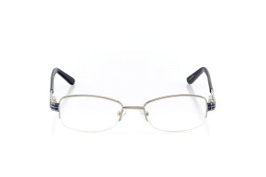 Women Semi Rimless Metal  Aura: 16-17 Silver & Navy 2005598