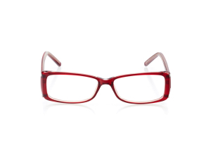 Women Full Frame Plastic  Aura: 16-39 Clear Red & Silver 2005953