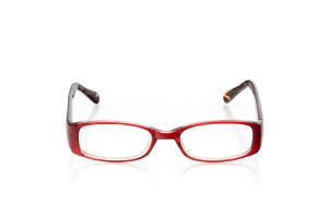 Women Full Frame Plastic  Aura: 16-46 Red & Brown Tiger Striping 2005970