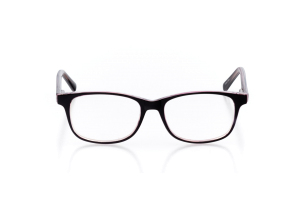 Women Full Frame Plastic  Aura: 16-56 Black & Clear Ruby Red 2005992