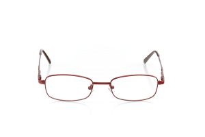 Women Full Frame Metal  Aura: 16-58 Currant Red & Walnut Brown 2005999