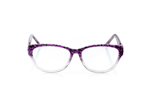 Women Full Frame Plastic  Aura: 16-66 Purple & Black Leopard Fade 2006582