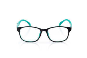 Women Full Frame Plastic  Aura: 16-82 Matte Black & Shamrock Green 2007228