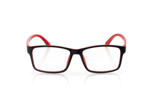 Women Full Frame Plastic  Aura: 16-83 Matte Black & Red 2007230