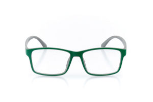 Women Full Frame Plastic  Aura: 16-83 Matte Shamrock Green & Gray 2007231