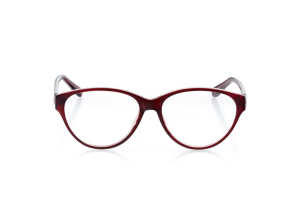 Men Full Frame Plastic  Aura: 16-95 Garnet Red & Clear 2007470