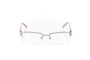 Women Semi Rimless Metal  Aura: 16-98 Silver & Rose Pink 2007479