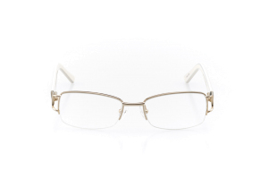 Men Semi Rimless Metal  Aura: 16-99 Gold & Egg Shell White 2007480