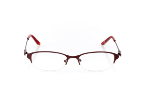 Women Semi Rimless Metal  Aura: 17-01 Garnet Red 2009011
