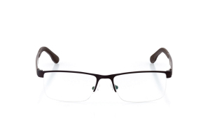 Men Semi Rimless Metal  CARTER: 15-26 Matte Brow & Bronze 2002223