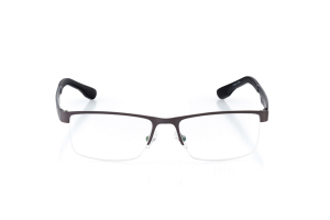 Men Semi Rimless Metal  CARTER: 15-26 Matte Gunmetal & Gray 2002221