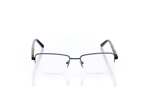 Men Semi Rimless Metal  Carter: 16-06 Matte Black 2005228