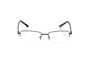 Men Semi Rimless Metal  CENTENNIAL: 16-01 Gunmetal & Black 2005690