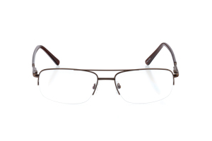 Men Semi Rimless Metal  CENTENNIAL: 16-03 Brown 2005697