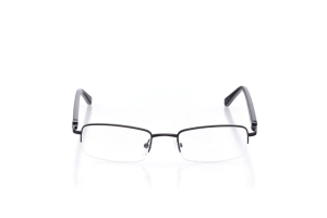 Men Semi Rimless Metal  Centennial: 16-47 Black 2006277