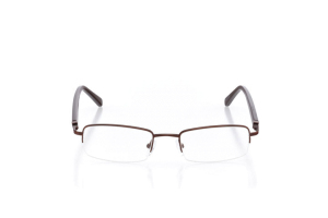 Men Semi Rimless Metal  Centennial: 16-47 Brown 2006278