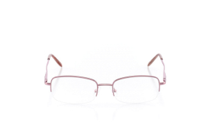 Women Semi Rimless Plastic  Claire: 16-26 Rose 2006622