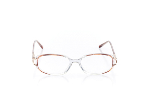 Women Full Frame Plastic  Claire: 16-35 Clear & Brown 2006349